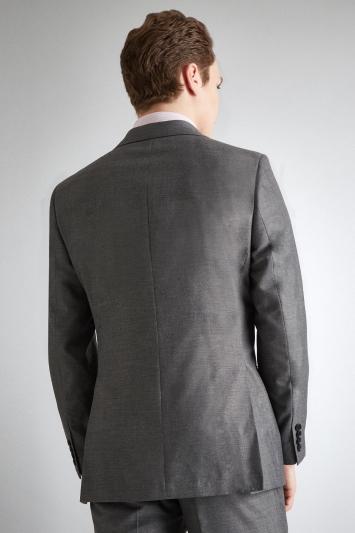 Moss Esq. Regular Fit Silver Grey Sharkskin Jacket