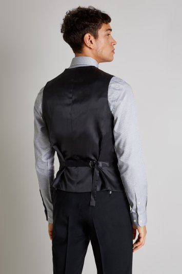French Connection Slim Fit Black Waistcoat