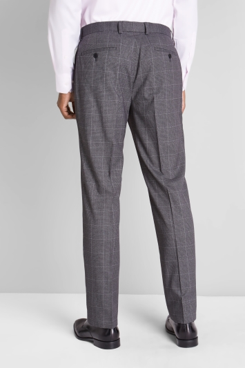 Moss Esq. Regular Fit Grey Prince of Wales Check Trouser