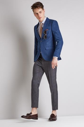Moss London Slim Fit Blue Texture Jacket
