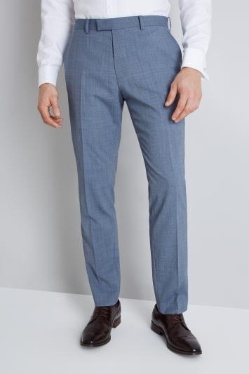 Lanificio F.lli Cerruti Dal 1881 Cloth Tailored Fit Light Blue Texture iTravel Trouser