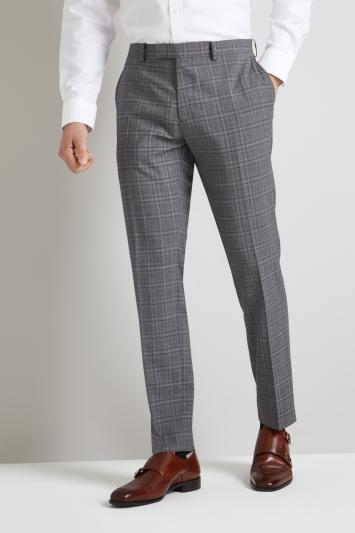 Lanificio F.lli Cerruti Dal 1881 Cloth Tailored Fit Grey Check iTravel Trouser