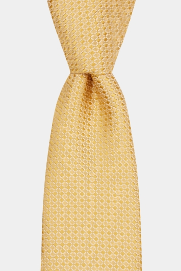 Moss London Yellow Textured Tie