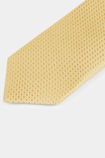 Moss London Yellow Textured Tie