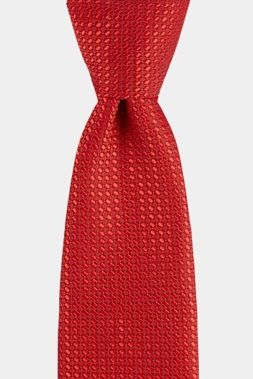 Moss London Red Textured Tie