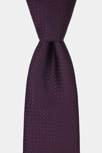 Moss London Purple Textured Tie