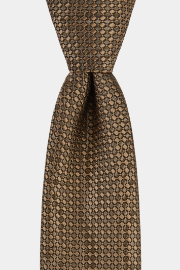 Moss London Gold Textured Tie