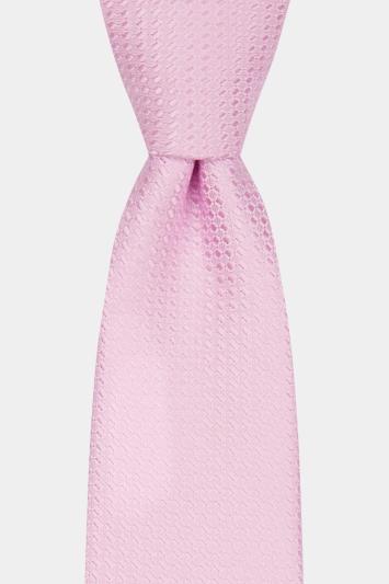 Moss London Pink Textured Tie