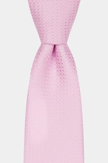 Moss London Baby Pink Textured Tie