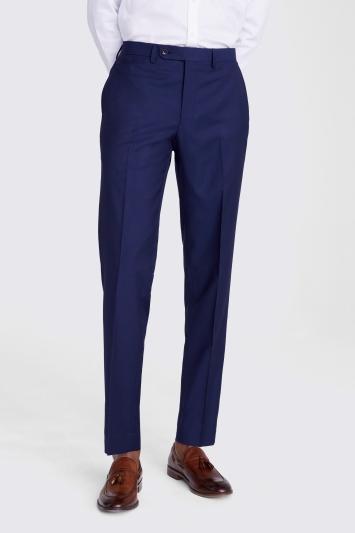 Ermenegildo Zegna Cloth Tailored Fit Naples Blue Trouser
