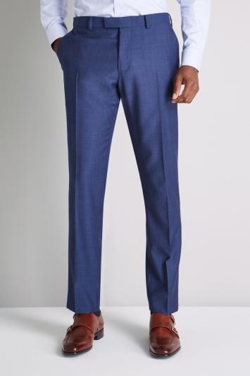 Ermenegildo Zegna Cloth Tailored Fit Blue Semi Plain Trouser