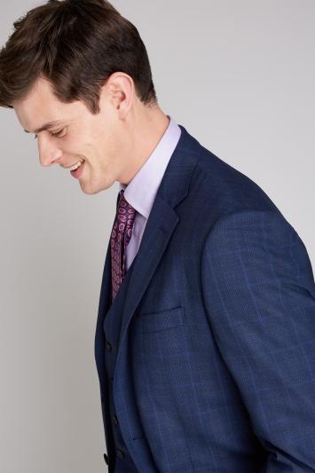 Ermenegildo Zegna Cloth Tailored Fit Navy Check Jacket