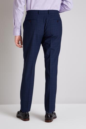 Ermenegildo Zegna Cloth Tailored Fit Navy Check Trouser