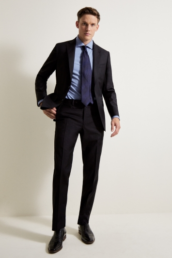 Ermenegildo Zegna Cloth Tailored Fit Black Suit Jacket