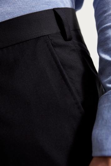 Ermenegildo Zegna Cloth Tailored Fit Black Trouser