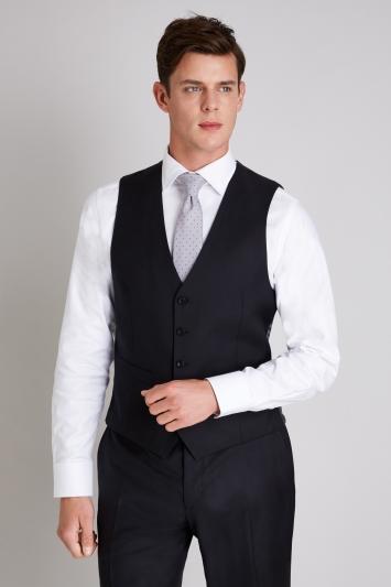 Ermenegildo Zegna Cloth Tailored Fit Black Waistcoat