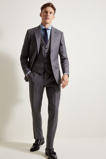 Ermenegildo Zegna Cloth Tailored Fit Grey Sharkskin Jacket