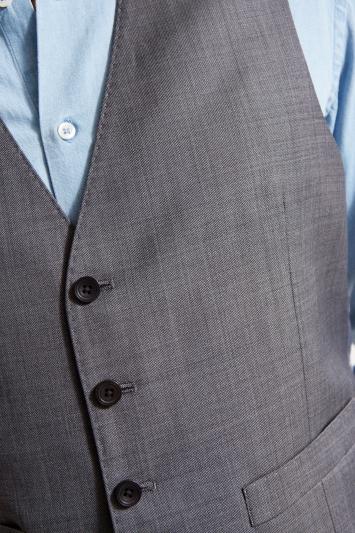 Ermenegildo Zegna Cloth Tailored Fit Grey Sharskin Waistcoat
