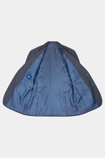 Moss 1851 Tailored Fit Charcoal Windowpane Jacket