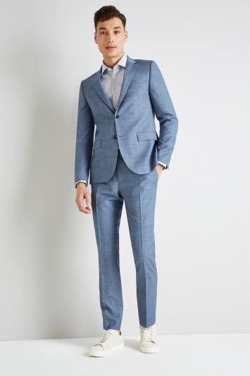 DKNY Slim Fit Light Blue Openweave Jacket