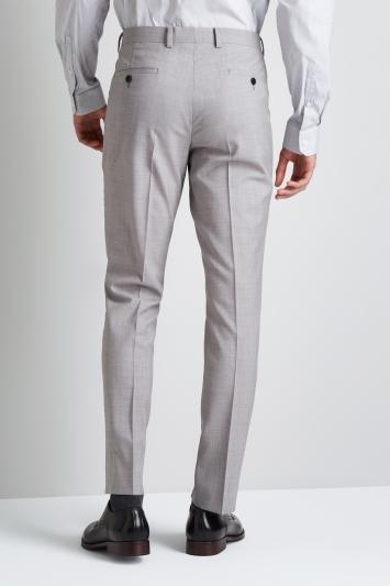 DKNY Slim Fit Light Grey Trousers