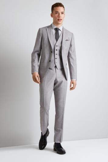 DKNY Slim Fit Light Grey Jacket