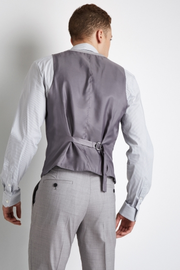 DKNY Slim Fit Light Grey Waistcoat