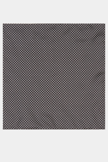 Moss 1851 Black & White Pin Dot Pocket Square