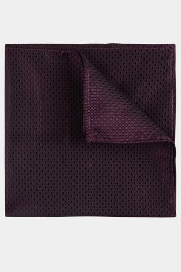 Moss London Purple Textured Pocket Square