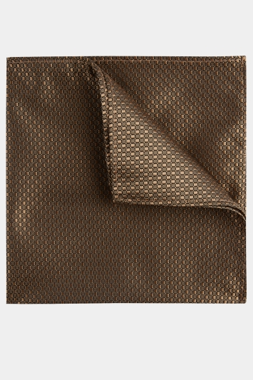 Moss London Gold Textured Pocket Square