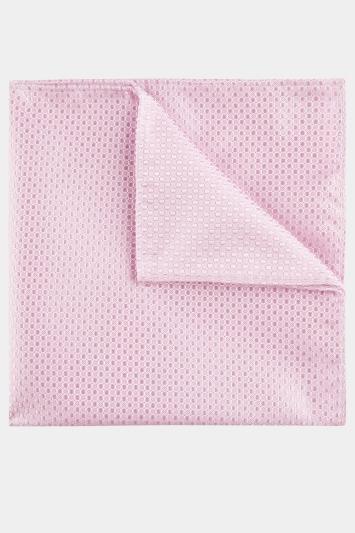 Pink Textured Pocket Square