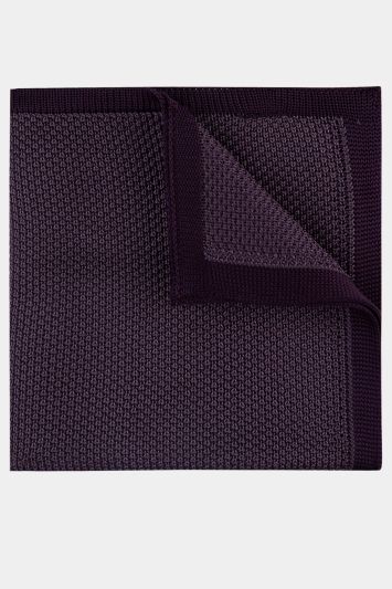 Moss London Mauve Knitted Pocket Square