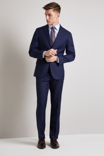 Hardy Amies Tailored Fit French Navy Twill Jacket