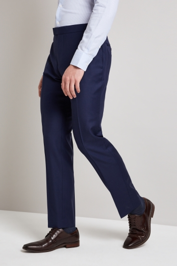 Hardy Amies Tailored Fit French Navy Twill Trouser