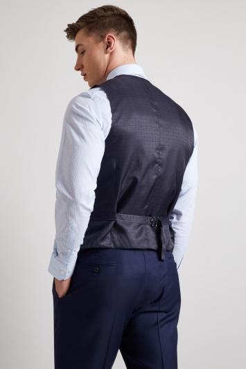 Hardy Amies Tailored Fit French Navy Twill Waistcoat