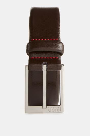 Brown Tumbled Leather Belt