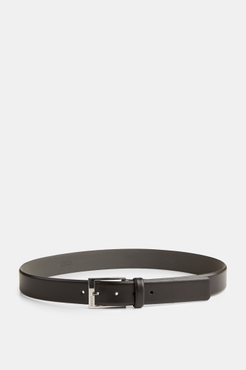 HUGO by Hugo Boss Tumbled Leather Black Belt