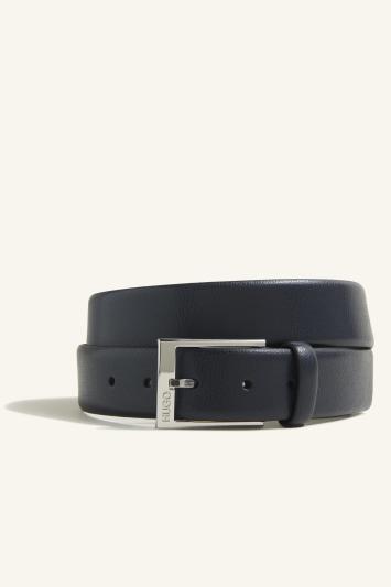 Black Tumbled Leather Belt
