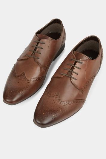 Moss London Lucan Brown Brogue Shoe