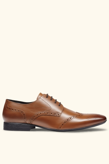 Moss London Lucan Tan Brogue Shoe