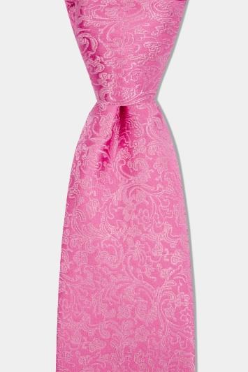 Pink Floral Silk Tie