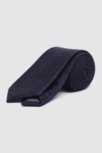 Navy Floral Silk Tie