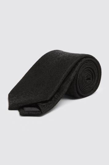 Black Floral Silk Tie