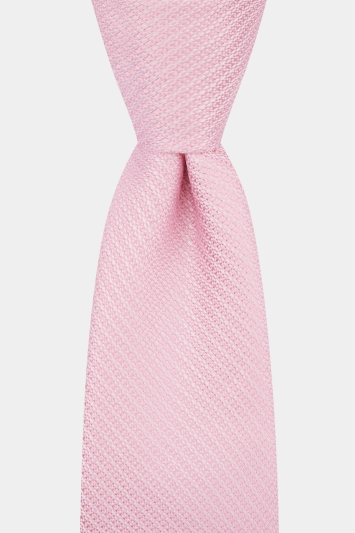Moss 1851 Pink Knit Texture Tie