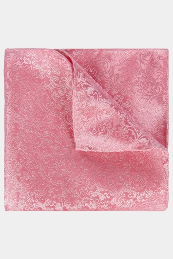 Moss 1851 Pink Floral Swirl Pocket Square