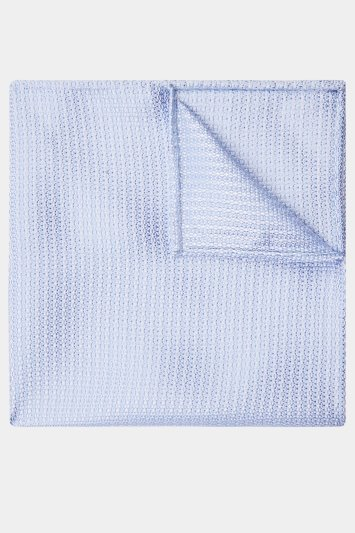 Moss 1851 Sky Knit Texture Pocket Square