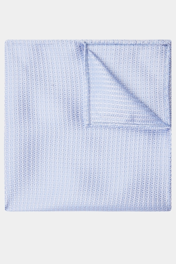 Moss 1851 Sky Knit Texture Pocket Square
