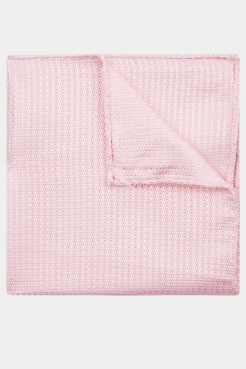 Moss 1851 Pink Knit Texture Pocket Square