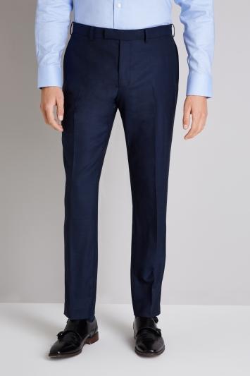 Ermenegildo Zegna Cloth Tailored Fit Ink Trousers