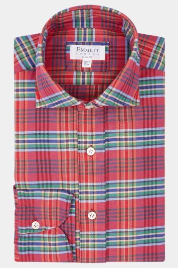 Emmett Slim Fit Multi Single Cuff Check Shirt